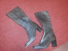 Jennifer Moore Tall Sexy Knee High Brown Leather Boots 8M EUC