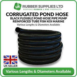 Flexible Ribbed Corrugated Pond Hose Garden Fish Filter Pipe Tubing Anti Kink
