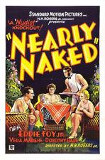 "Exploitation Film Nearly Naked Movie Poster Replica 13x19"" Photo Print"