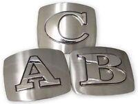 Initial Belt Buckle Usa American Alphabet Monogram Silver Metal Western Letters
