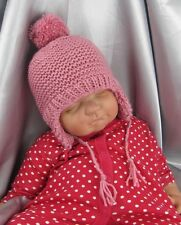 PRINTED KNITTING INSTRUCTIONS-BABY BOBBLE TRAPPER HAT KNITTING PATTERN