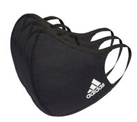 Adidas Face Cover Mask M/L Medium Large (3-Pack) BLACK NEW 100% AUTHENTIC