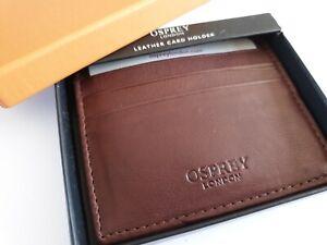 OSPREY WESLEY CARD HOLDER NAPPA BROWN CARDHOLDER BOXED LEATHER RRP £45