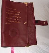 Genuine Leather AA Big Book BURGUNDY Cover Alcoholics Anonymous Coin holder