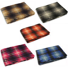 Wool Blend Checked Decorative Throws