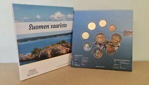 Coffret BU Euros Finlande 2021 Archipelago - 1 centime à 2 Euros + Commémorative