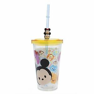 Disney Parks Tsum Tsum Tumbler with Straw -  Drink Cup with Lid