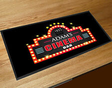 Personalised Home Cinema Movie Bar Beer label Bar runner Mat Pub & Clubs