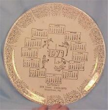 LeFevres Store Boyertown PA Calendar Plate 1971 101 Years in Business Vintage