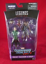 Sealed Marvel Legends ROCKET RACCOON & GROOT Guardians of the Galaxy MANTIS BAF