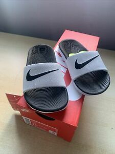 Nike Kawa Slides Children White/black, Size 10.5 Uk, New