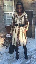 Designer Swing white sable brown multicolor Mink Fur Coat Jacket Stroller S-M 6