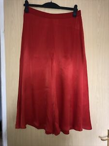 COS red Silky Culotte Trousers 14