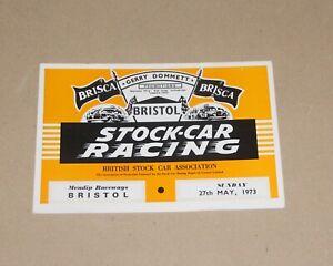 1973 Bristol Brisca F2 stock cars & Grand Prix Midgets programme, 27 May