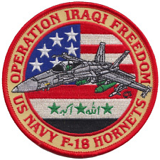 US Navy F-18 Hornets Operation Iraqi Freedom Embroidered Patch ** LAST FEW **