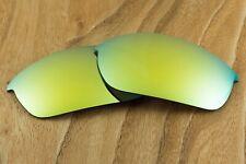 24K Gold Iridium Mirrored Polarized Replacement Lenses for Oakley Flak Jacket