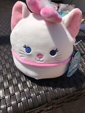 """NWT Marie Squishmallow 7"""" Disney exclusive Aristocats Cat HTF size Kellytoy"""