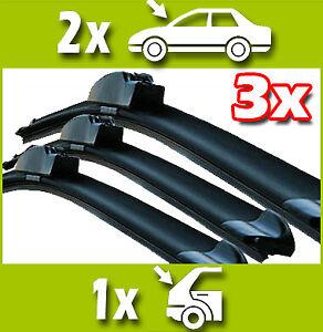 2 Front + 1 Rear Wiper Blades for NISSAN Qashqai 2006-2013 60/38/30cm