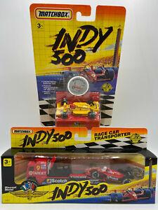Matchbox Indy 500 Formula 1 Pennzoil Race Car & COE Tractor Truck w Trailer Lot