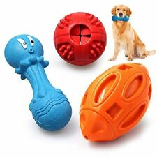 New listing Utewya Dog Chew Toys for Aggressive Chewers,Squeaky Dog Toys,Iq Treat Ball.Natur