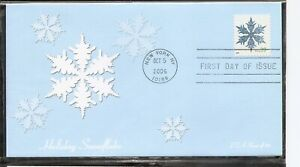 US SC # 4104 Holiday Snowflake FDC. Fleetwood Cachet