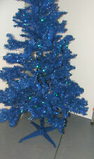 6 ft BLUE Christmas Tree with Pre-Lit Xmas Tree with 150 blue green LED lights