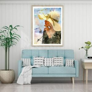 Girl Portrait Watercolor Painting Print Premium Poster High Quality choose sizes