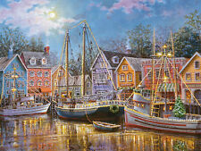Christmas Boat Scenery 5D Full drill Diamond Painting Embroidery Art Decor N6727