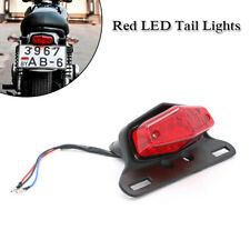 12V Red LED Motorcycle Turn Signal Tail Light Fender Edge Brake License Plate