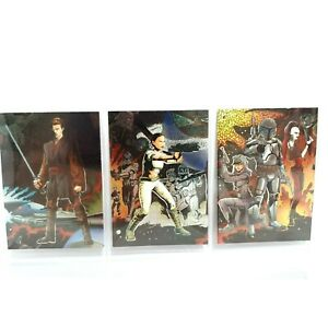 2004 Topps Star Wars Heritage Etched-Foil Collectable Trading Cards 2 - 5 - 6