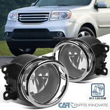 For 12-15 Honda Pilot Glass Lens Fog Lights Bumper Lamps Pair+Switch+Wiring Kit