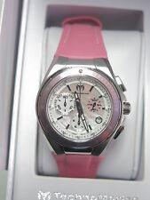 TechnoMarine Watch Cruise Steel Chronograph Pink MOP 110007L NEW! 23513