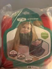 trtl Pillow Scientifically Proven Super Soft Neck Support Travel Pillow Red