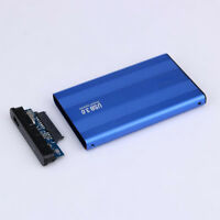 "USB 3.0 2.5"" SSD HD Hard Drive Disk SATA External Enclosure Case Cover Box Blue"
