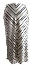 Banana Republic Womens Silk Skirt Black White Chevron Striped 100% Silk Size 2