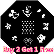 New Disney Mickey Minnie Mouse Nail Art Stamper Stamping Plate Polish Stencils