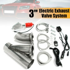 "3"" Inch Electric Exhaust Catback Downpipe Cutout E-Cut Out Valve Motor Kit"