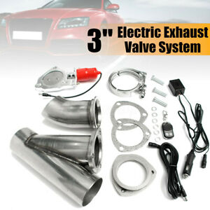 "3"" Inch Electric Exhaust Downpipe Cutout E-Cut Out Valve Motor Kit Gear Driven"