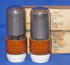 NOS NIB Matched Pair Raytheon JAN CRP 6V6GTY Smoked Glass Same 1958 Date