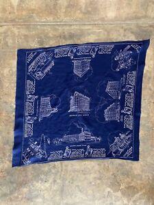 vtg 40s Lee Union Made Blue Advertising Bandana