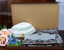 Islamic Gift Hamper for EID Ramadan Crystal Tasbih Prayer Hat Mat Attar Dates