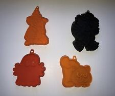 Vtg Hallmark Cards Black Orange Holiday Halloween Cookie Cutters Witch Ghost Cat