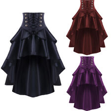 79645cf0c9 Victorian High Waisted Lace Up Skirt Women Ladies Steampunk Corset Gothic  Dress