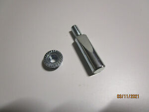 Schwinn Airdyne   Cottered Crank  WEDGE PIN w/ SERRATED FLANGE NUT