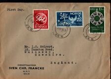 More details for 1949 norway oslo cancel universal postal union upu fdc to england