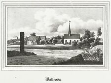 WALLRODA (ARNSDORF) - TEILANSICHT - Kirchen-Galerie - Lithografie 1841