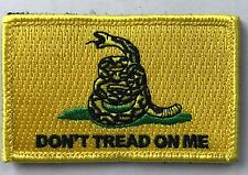DTOM Don't Tread On Me Embroider Military Tactical Snake ISAF Hk/Lp Patch YELLOW
