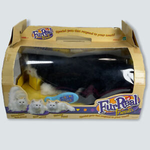 Vintage 2002 TIGER ELECTRONICS FURREAL FRIENDS Black White KITTY CAT NEW IN BOX