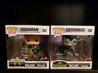 Funko Pop! Heroes #269 Catwoman Deluxe GameStop Jim Lee Aquaman #254 DC 2 Pack