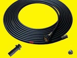30m Rohrreinigungsschlauch für Kärcher Hochdruckreiniger mit 2 Düsen